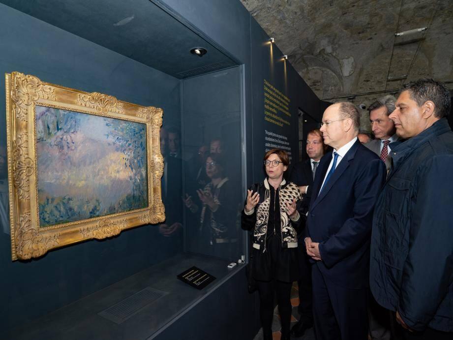 Le souverain s'est rendu dans les deux communes italiennes frontalières qui rendent hommage cet été au maitre de l'impressionnisme.