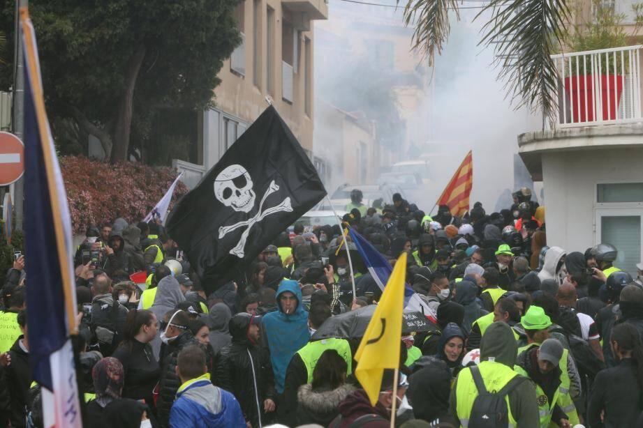 La manifestation des gilets jaunes à Toulon avait connu des débordements.