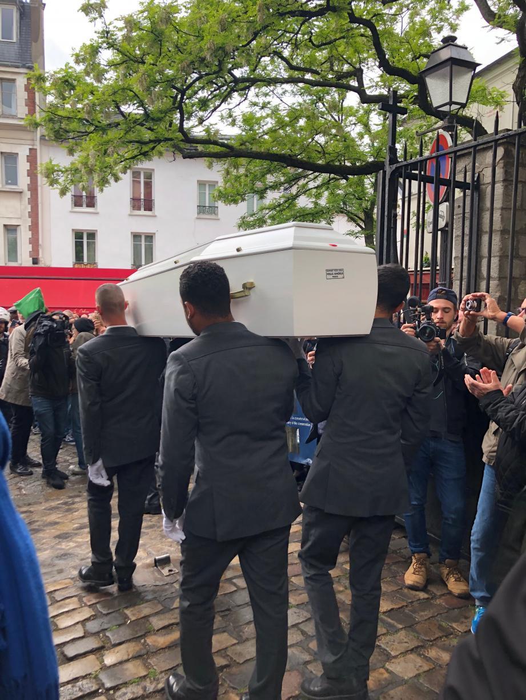 Obsèques de Dick Rivers, ce jeudi 2 mai 2019 à Paris.