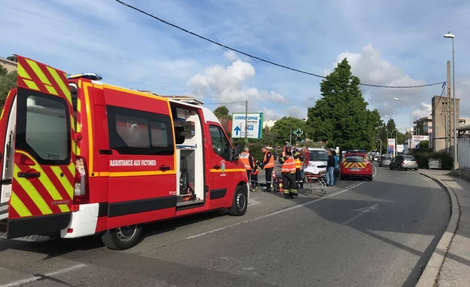 Les secours sont rapidement arrivés sur place.