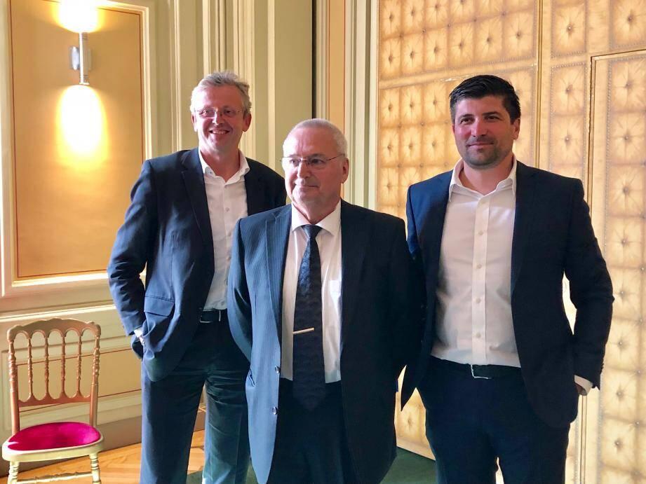 Accélérer le rayonnement de la Côte d'Azur au national et international, attirer les talents font partie des objectifs que se fixe Jean-Pierre Savarino entouré de Cédric Messina et Laurent Londeix.
