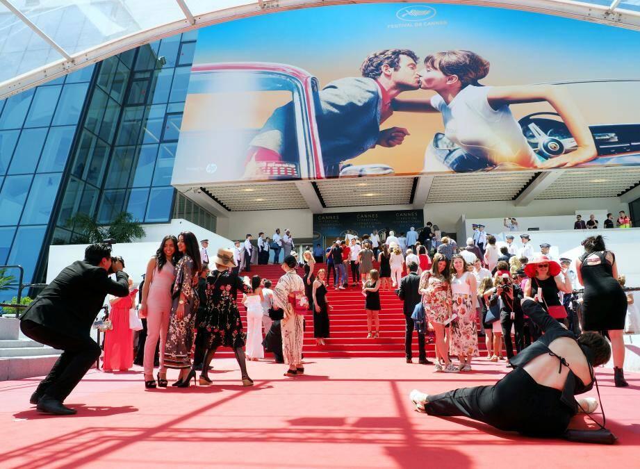 La montée des marches des Cannois lors de l'édition 2018 du Festival de Cannes.