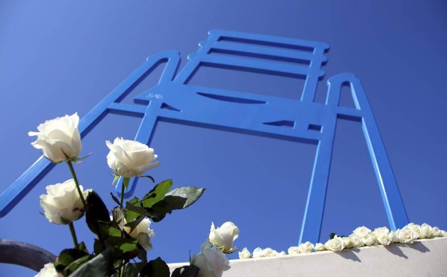 Un hommage rendu aux victimes de l'attentat de Nice, survenu le 14 juillet 2016.