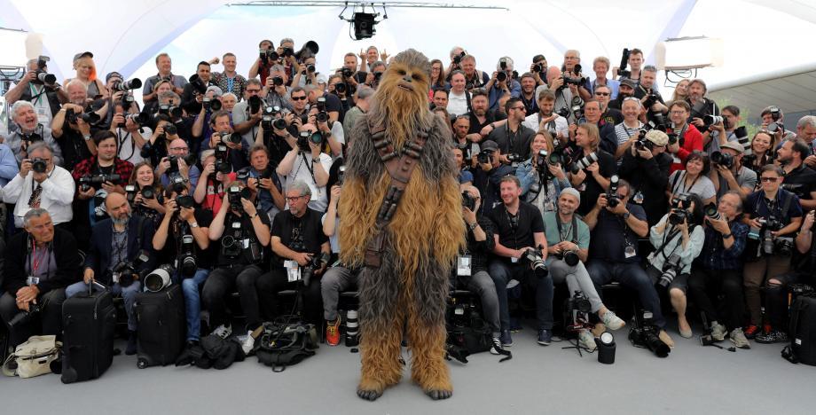 Chewbacca au festival de Cannes en mai 2018