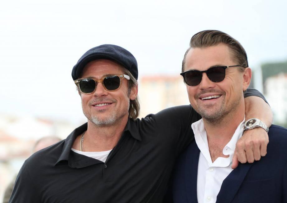 Brad Pitt et Leonardo DiCaprio au photocall du film Once upon a time... in Hollywood, au 72e Festival de Cannes.