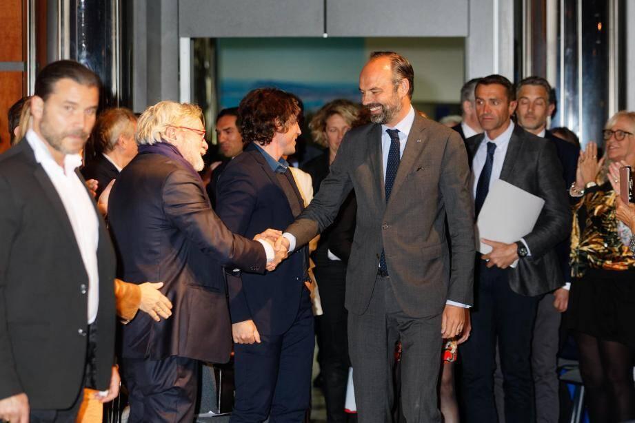 Edouard Philippe lors de son meeting à Toulon avant les élections européennes.