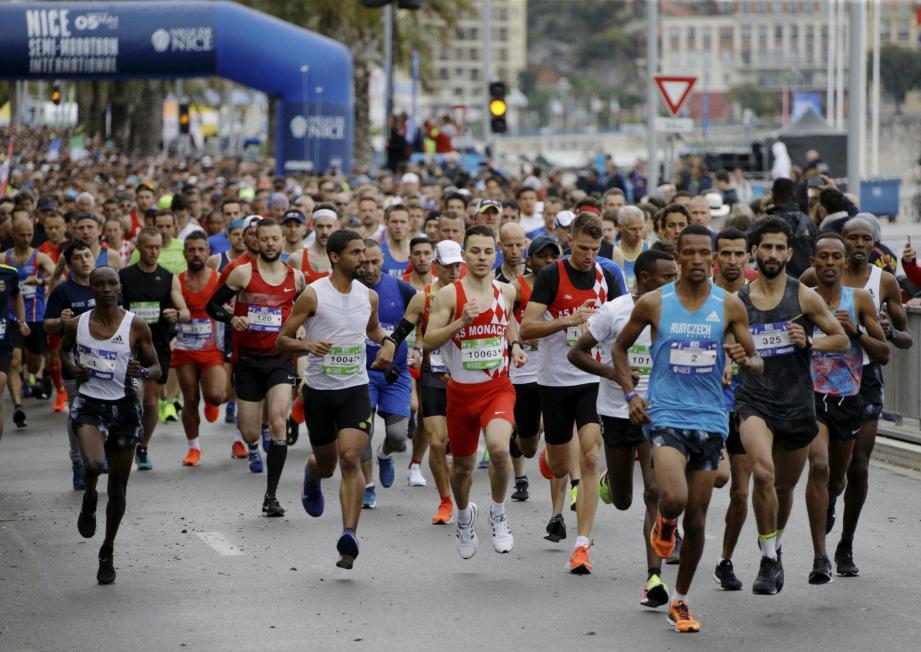 Le 28e semi-marathon de Nice.