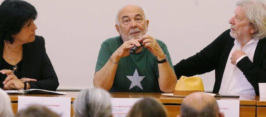 Gérard Jugnot au lycée Masséna, à Nice, jeudi.
