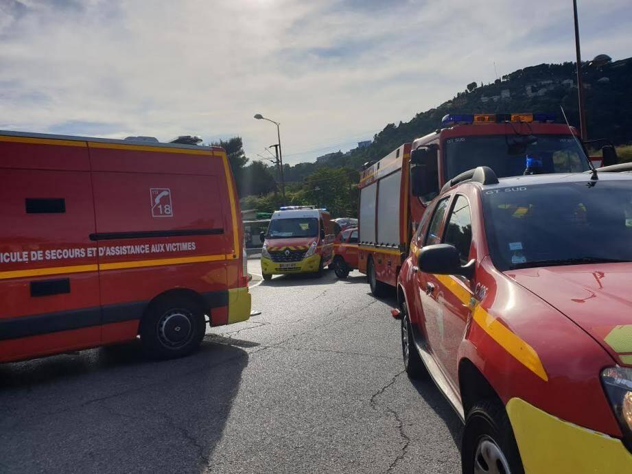 L'accident s'est produit route de Turin, à l'Est de Nice.