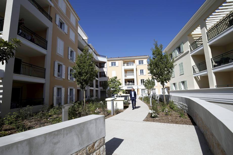 Un nouveau quartier bien intégré dans le village de La Turbie.