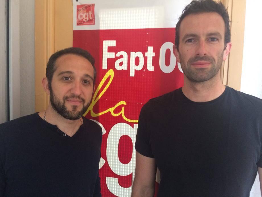 Julien Briol et Frédéric Uyttersprot de la FAPT dénoncent l'emploi de CDD et d'intérimaires dans la distribution du courrier. Pour la CGT : le courrier n'est plus la priorité de La Poste.
