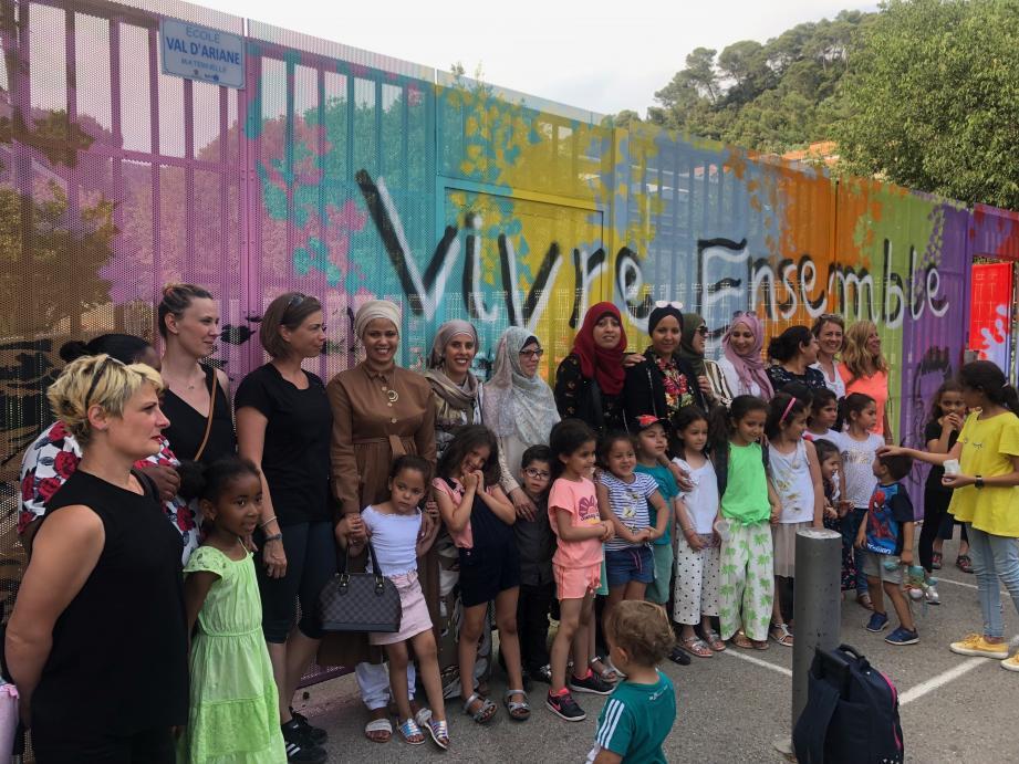 Le portail des écoles du Val d'Ariane et du Manoir affiche les couleurs du « vivre ensemble »(DR)