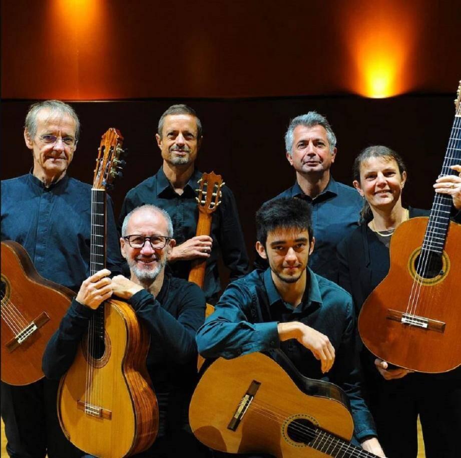 Copla, un sextuor de guitares attractif et original en ouverture du festival.