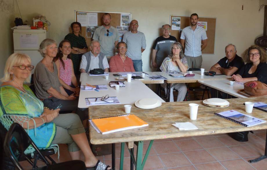 le comité de pilotage réunissait tous les partenaires du chantier.