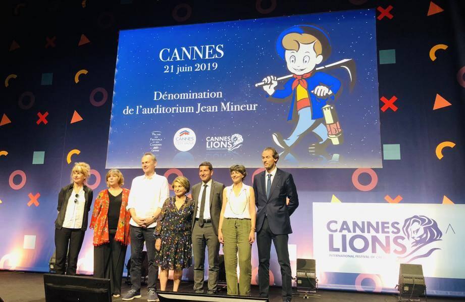La famille de Jean Mineur était présente à Cannes pour participer à ce bel hommage.
