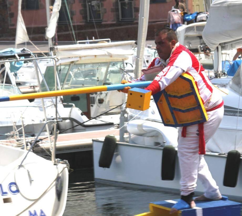 Cédric Donadio en action.