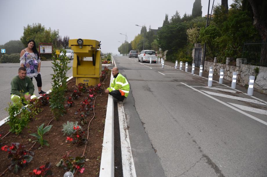 En mai, sous la direction de Sabrina Deriu, directrice adjointe des services techniques, Cédric et Cédric, la brigade verte de La Turbie, ont exécuté les travaux de sécurisation de la route.