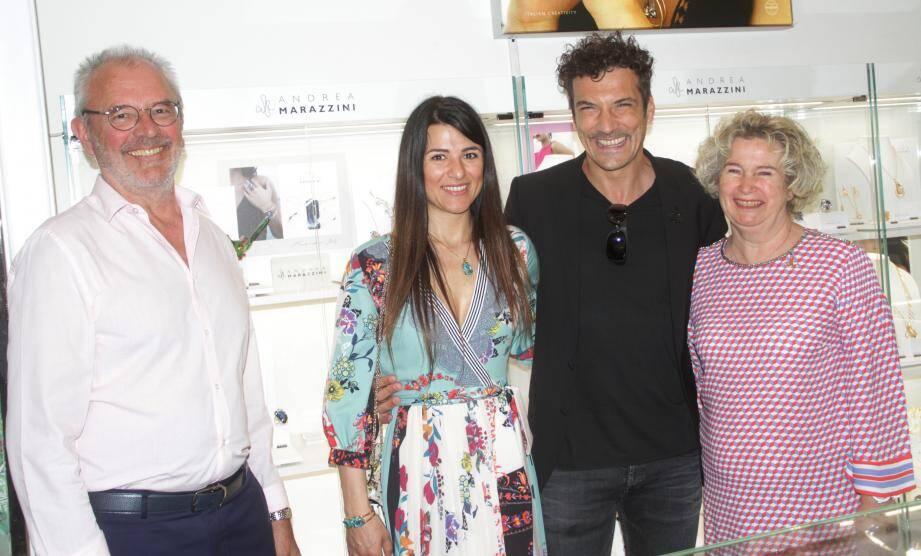 Jean Pierre Pasquier, Laura et Andréa Marazzini, Isabelle Pasquier.