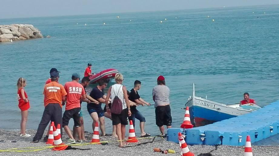 Tout au long de la journée les marins de la SNSM ont enchaîné les démonstrations.