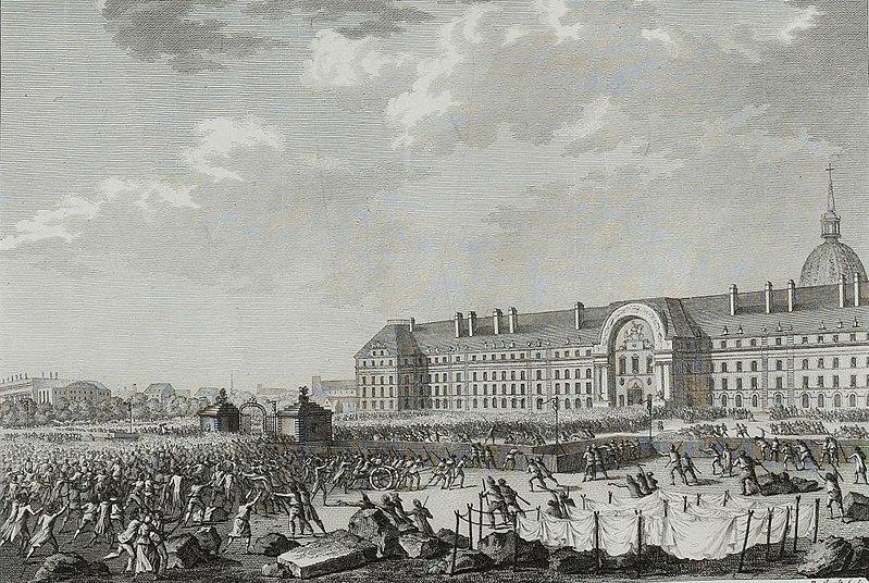 Prise des armes aux Invalides le 14 juillet 1789.