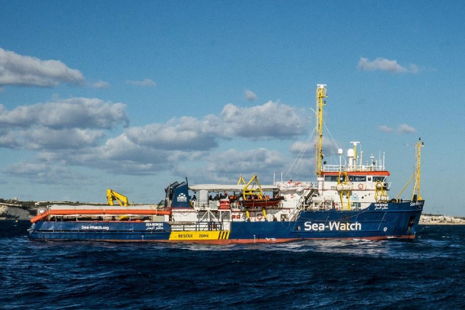 Le Sea-Watch le 4 janvier 2019 au large de Malte