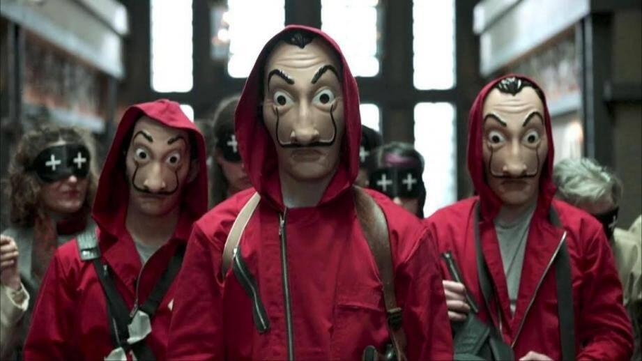 Les protagonistes voulaient fêter la sortie de la 3e saison de la série La Casa de papel.