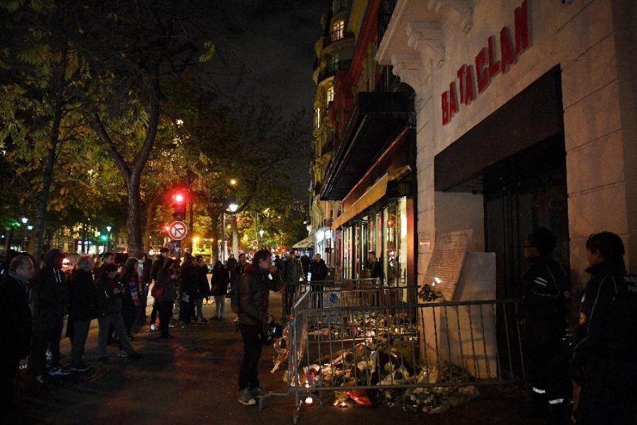Hommage aux victimes du Bataclan à Paris, le 13 novembre 2017