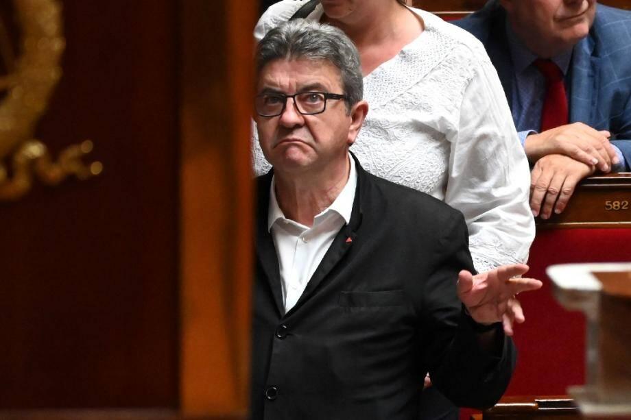 Le chef de file de La France Insoumise Jean-Luc Mélenchon le 25 juin 2019 à l'Assemblée nationale à Paris