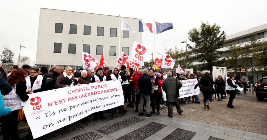 Lors des manifestation en mars 2018.