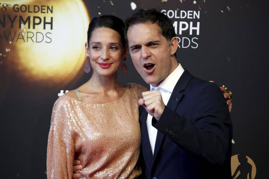 Pedro Alonso, de la série La casa de papel et la danseuse Mora Godoy, lors du58e Festival télé de Monte-Carlo.