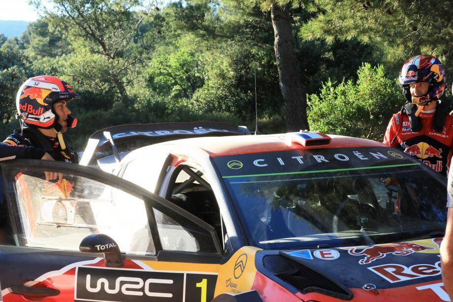 Les pilotes Sébastien Ogier (à droite) et Pierre Gasly réunis le temps d'un clip promottionnel.
