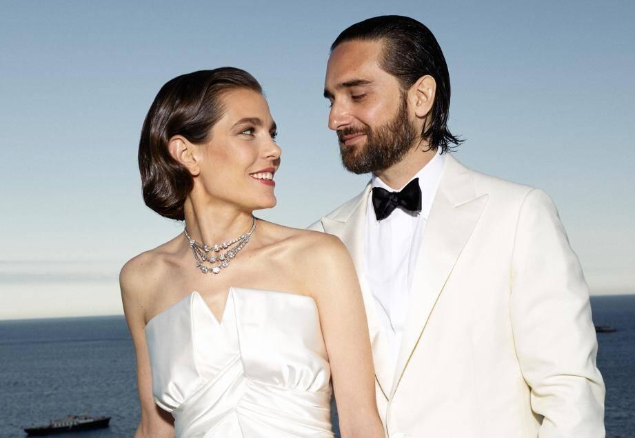 Charlotte Casiraghi et Dimitri Rassam ont prolongé les festivités de leur mariage en Principauté, dans la soirée, par une réception à la Vigie.