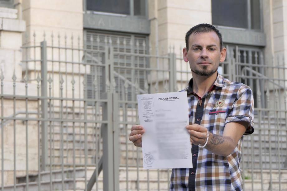 Sébastien Liautaud, Antibois de 33 ans, qui a déposé plainte contre le prêtre niçois mis en examen pour des agressions sexuelles sur mineurs.