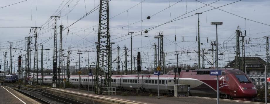 Un train de la compagnie ferroviaire Thalys.