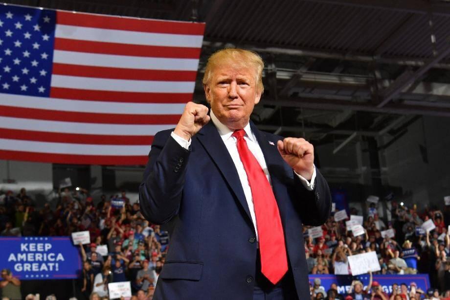 Le président américain Donald Trump s'exprime lors d'un meeting