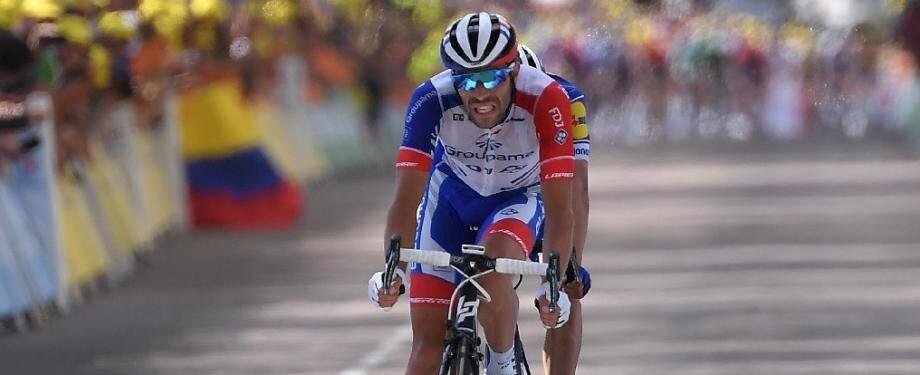 Le Français Thibaut Pinot lors de la 8e étape du Tour de France le 13 juillet 2019