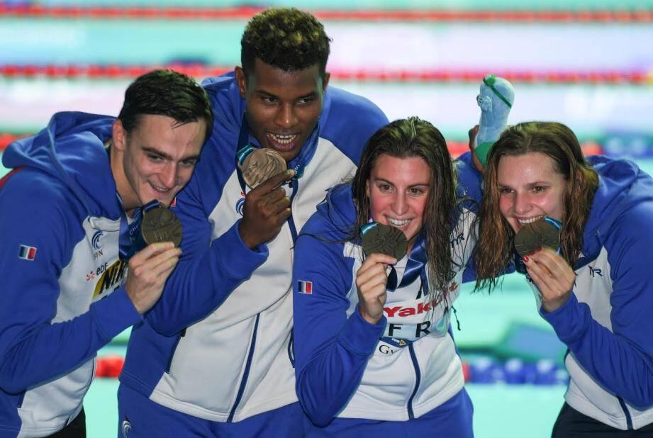 Clément Mignon, Mehdy Metella, Charlotte Bonnet et Marie Wattel ont offert une deuxième médaille aux Bleus, lors de ces Mondiaux 2019. David Aubry avait déjà été bronzé sur le 800 m.