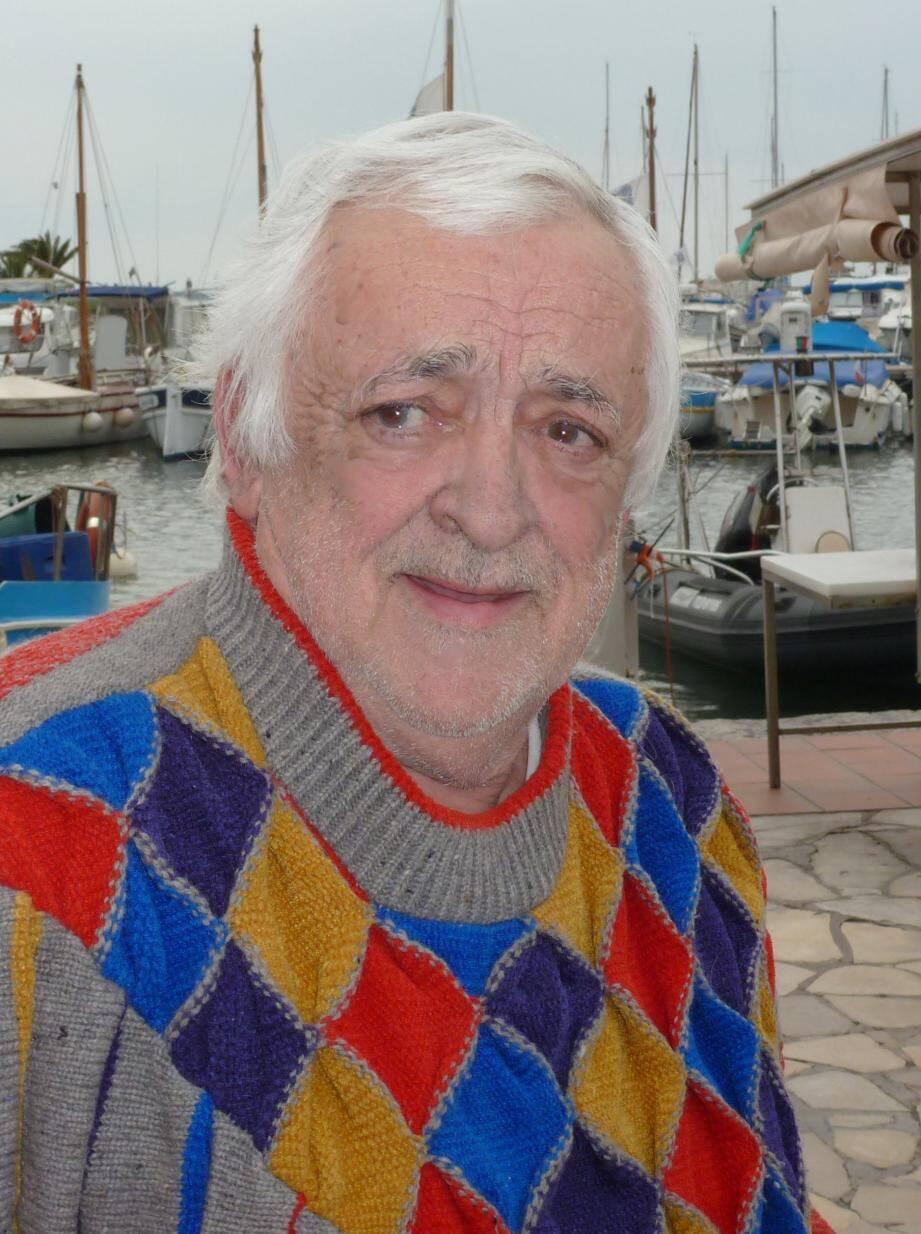 René Raybaud, comédien et créateur de la compagnie Poquelin-Romain Bouteille.