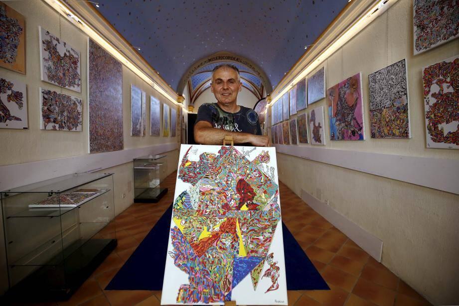 A Castellar, Christophe Ausello expose 78 œuvres, toutes réalisées en l'espace d'un an et demi.