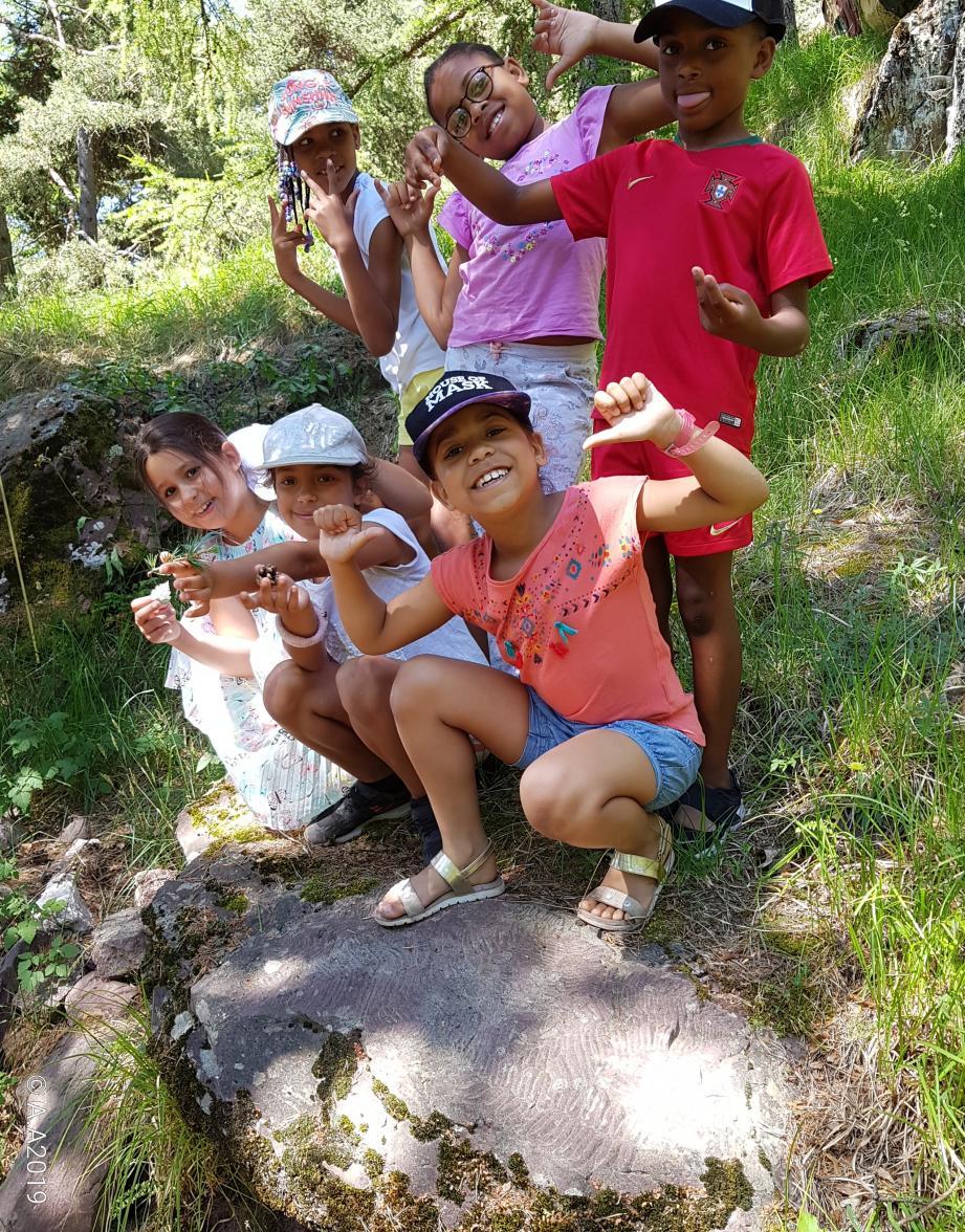 Les élèves ont pu profiter d'une journée à l'arboretum de Roure. (DR)
