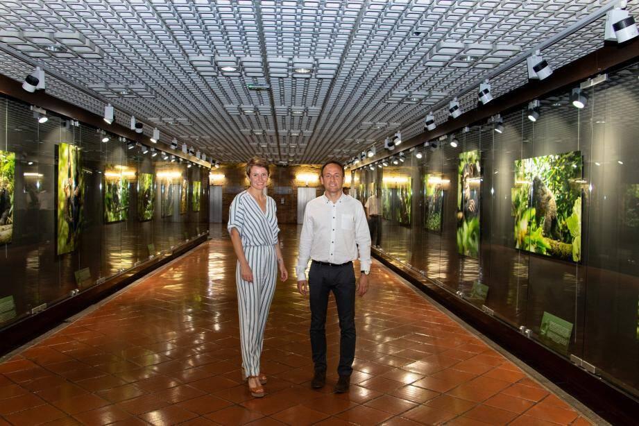 Sabrina et Jean-Michel Krief à la galerie des Pêcheurs.