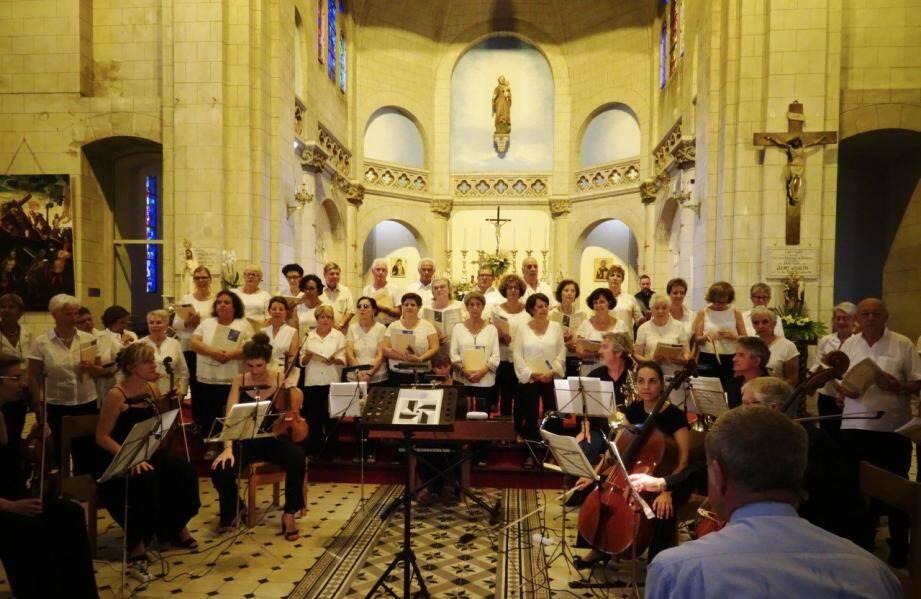 Un moment magique lors des interprétations du cantique de Jean Racine, et du Requiem de Gabriel Fauré.