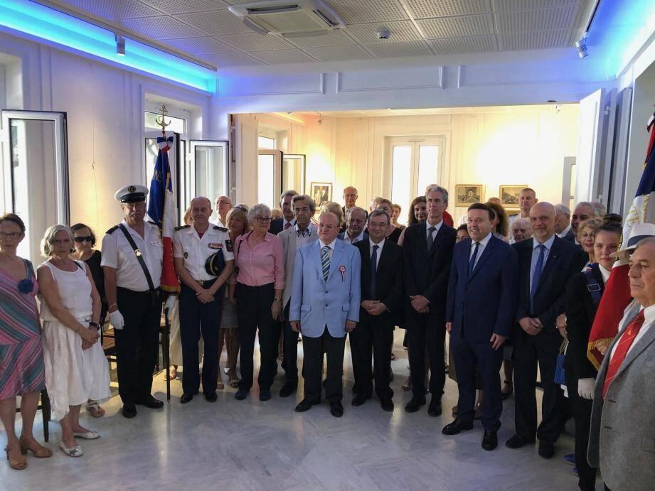 Les Français de Monaco se sont réunis hier autour de Georges Mas, président de la fédération des groupements français de Monaco.