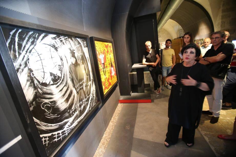 Visite guidée par Simone Dibo-Cohen, commissaire d'exposition et présidente de l'Umam créée en 1946 par Matisse et Pierre Bonnard pour promouvoir les jeunes talents.