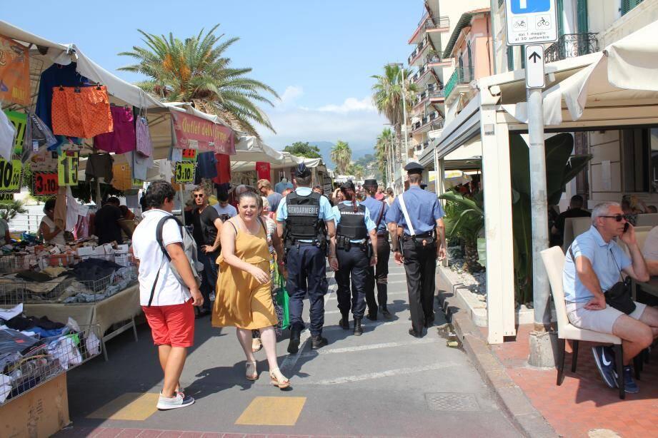 Vendredi dernier, de nombreux Français ont été surpris de voir des gendarmes à Vintimille.