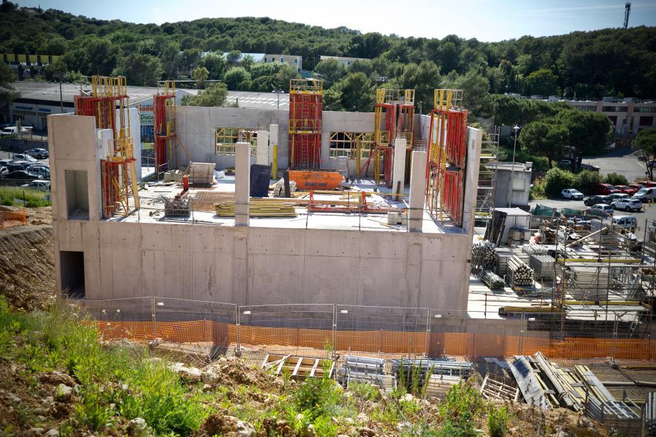 Le chantier imposant de Sophipolis, ici en juin dernier.