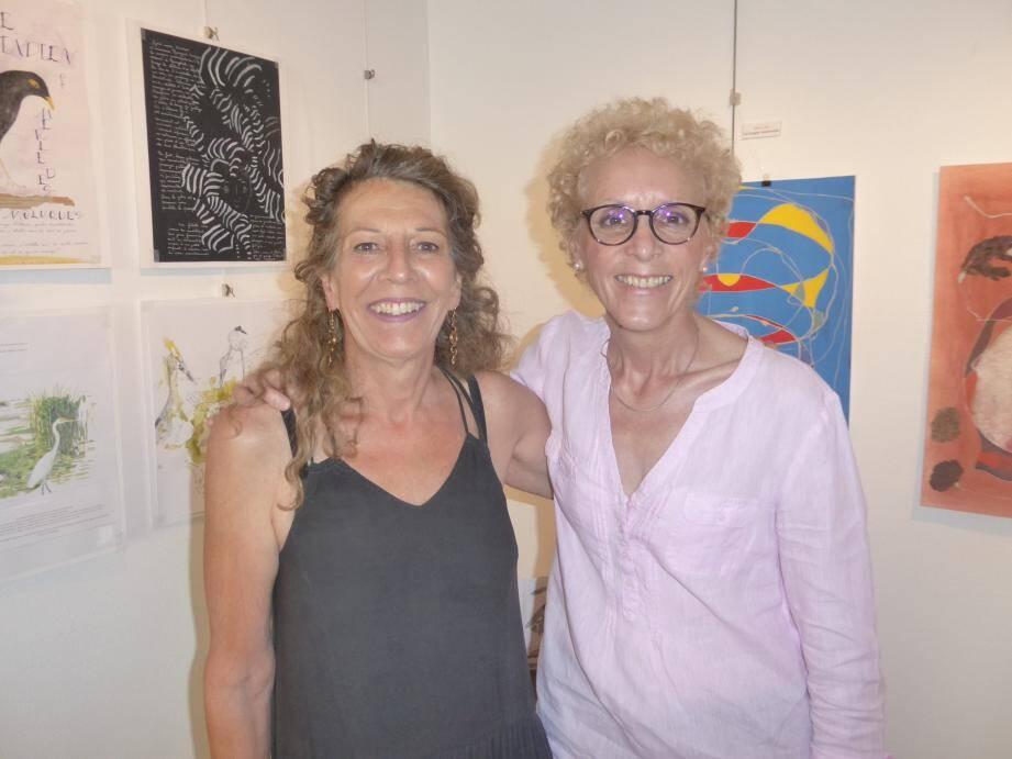 Christine Milhet et Gislaine Ariey, exposent salle Agosta, jusqu'au 26 juillet.