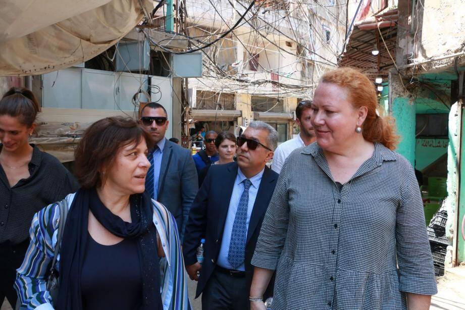 Isabelle Rosabrunetto au camp de Bourj el-Barajneh.