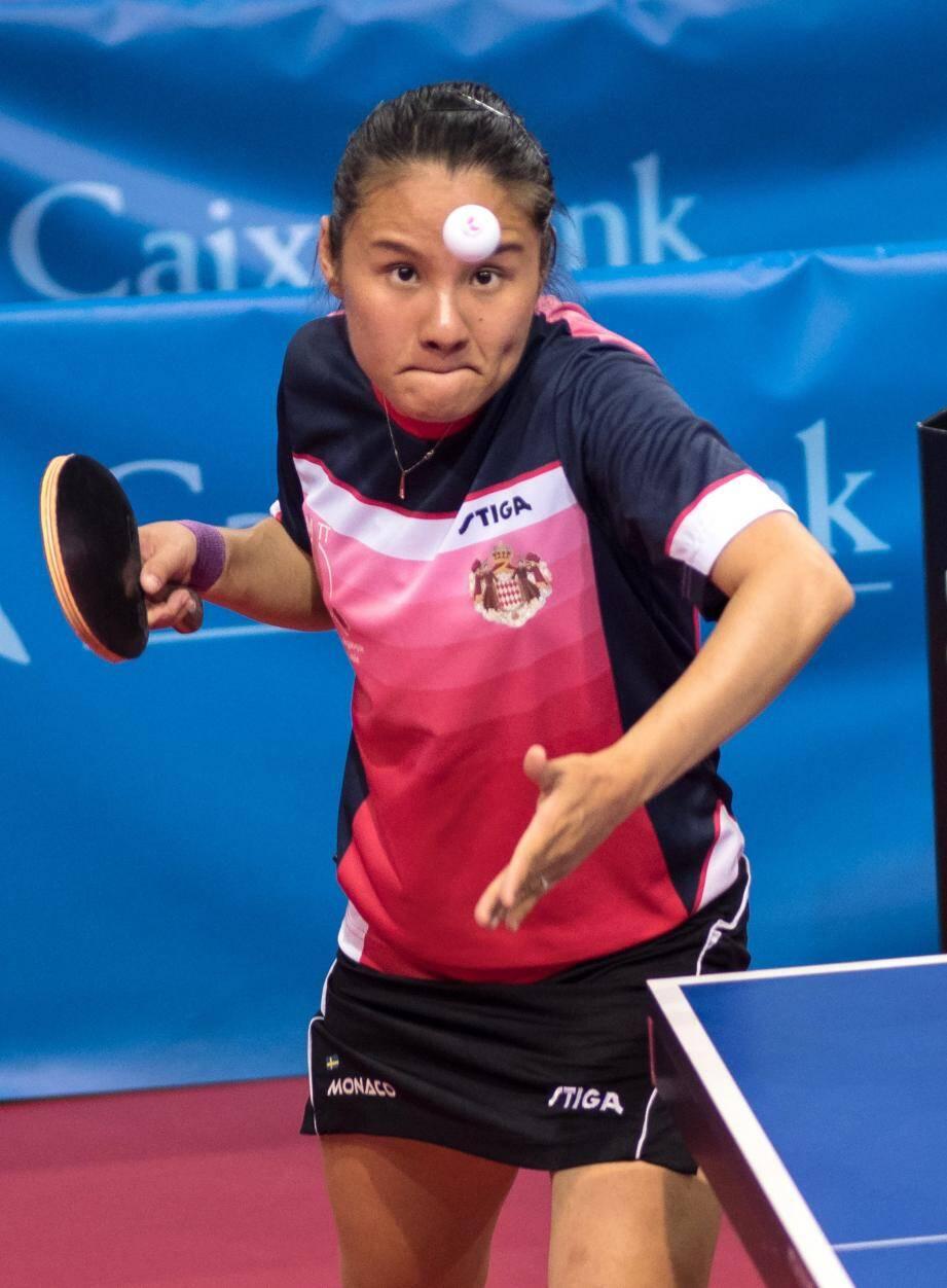 La pongiste Xiaoxin Yang (ici aux Jeux méditerranéens en juin 2018).