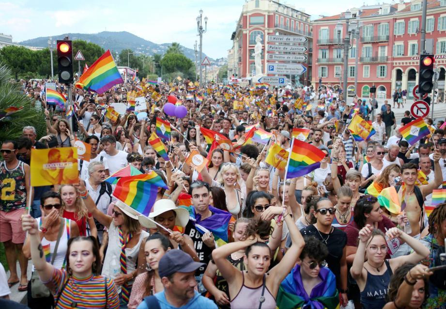 La marche des fiertés, ici en 2018, s'élancera à 17 h de l'avenue Saint-Jean Baptiste.